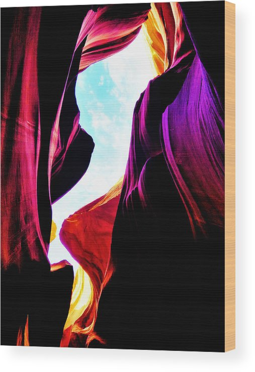 Lower Antelope Canyon Wood Print featuring the photograph Rocks, Sunlight And Magical Colors by Gio