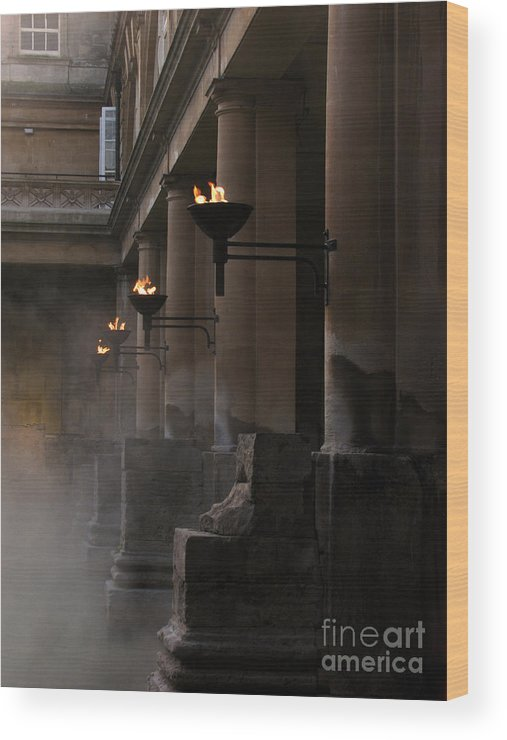 Bath Wood Print featuring the photograph Roman Baths by Amanda Barcon