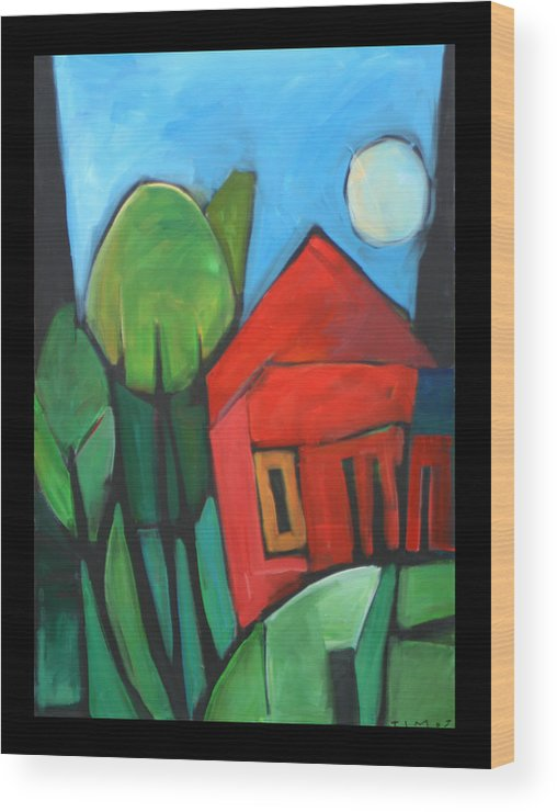 Trees Wood Print featuring the painting Root Cellar by Tim Nyberg
