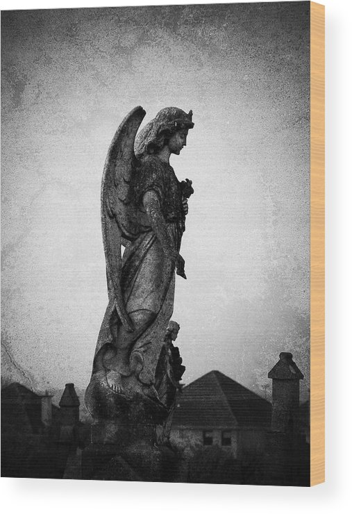 Roscommon Wood Print featuring the photograph Roscommonn Angel No 4 by Teresa Mucha