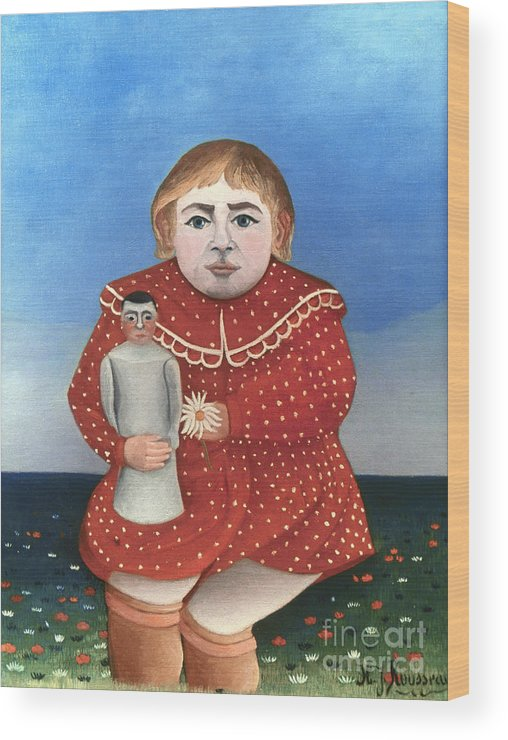 1906 Wood Print featuring the photograph Rousseau: Child/doll, C1906 by Granger