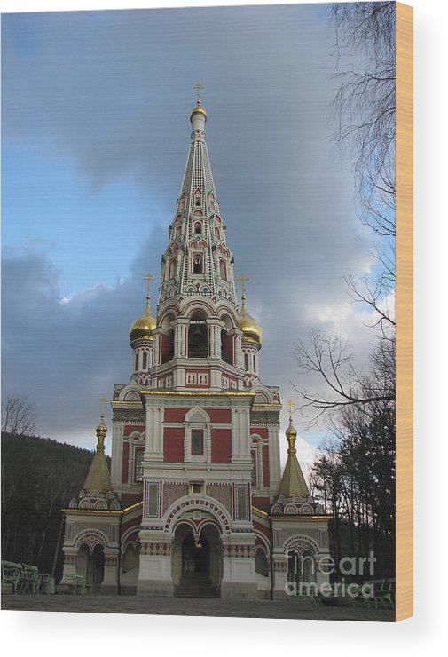 Monument Wood Print featuring the photograph Russian Church At Shipka by Iglika Milcheva-Godfrey