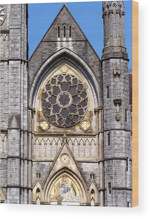 Ireland Wood Print featuring the photograph Sacred Heart Church Detail Roscommon Ireland by Teresa Mucha