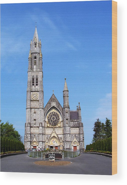 Ireland Wood Print featuring the photograph Sacred Heart Church Roscommon Ireland by Teresa Mucha