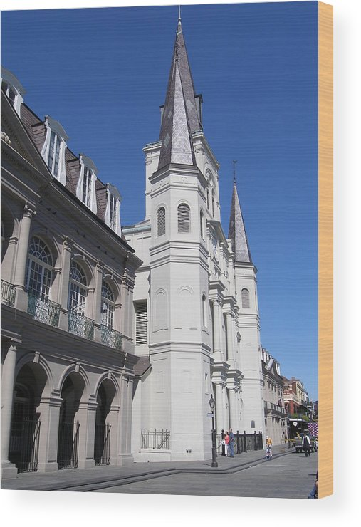 New Orleans Wood Print featuring the photograph Saint Louis Cathederal 4 by Jack Herrington