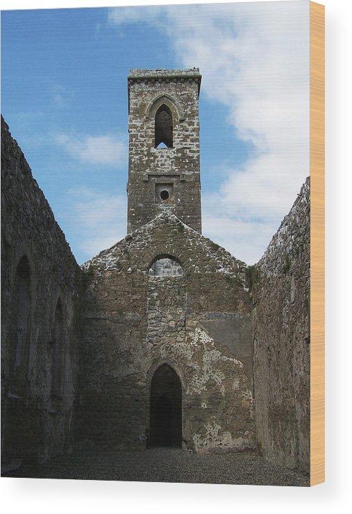 Ireland Wood Print featuring the photograph Sanctuary Fuerty Church Roscommon Ireland by Teresa Mucha