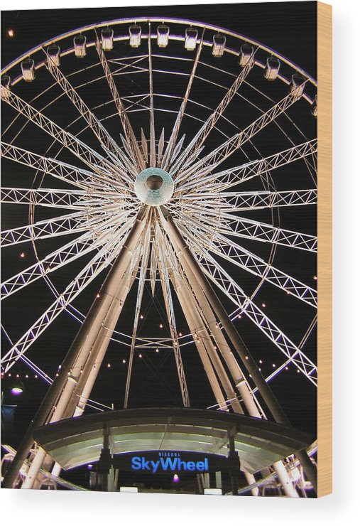 Sky Wheel Wood Print featuring the photograph Sky Wheel by Heather Weikel