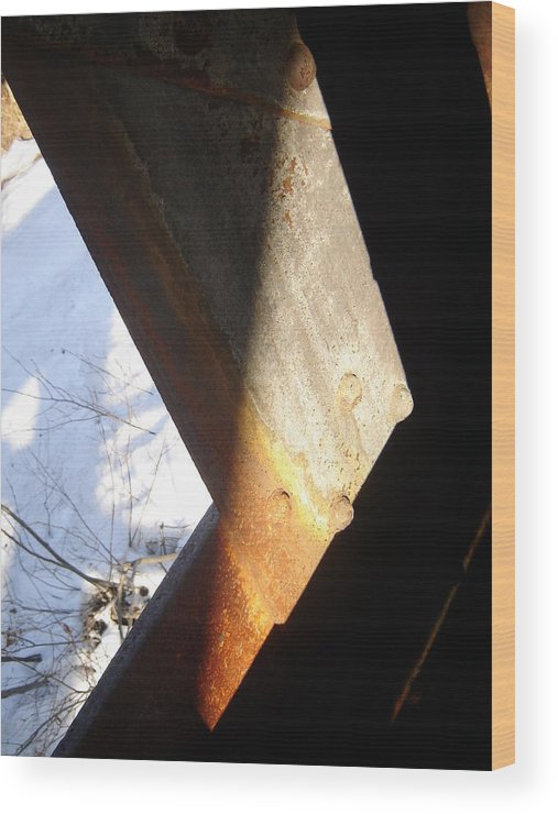 Architectural Wood Print featuring the photograph Snow Angle by Dean Corbin