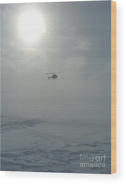 Helicopter Wood Print featuring the photograph Snow Heli -25deg by Jim Thomson
