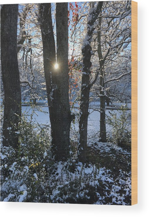 Glory Wood Print featuring the photograph Snow Sunrise 3 by Kevin Wheeler