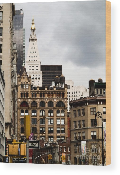 New York City Wood Print featuring the photograph Sohmer Piano Building And Flatiron District by Dorothy Lee