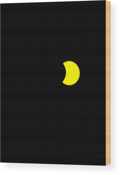 Sun Wood Print featuring the painting Solar Eclipse, Cookie Bite by Celestial Images