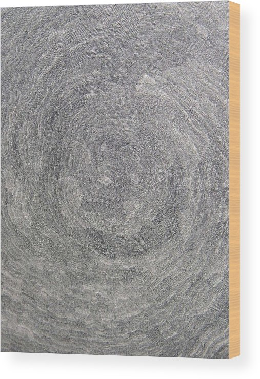 Drawing Wood Print featuring the drawing Source Of Time by Uwe Schein