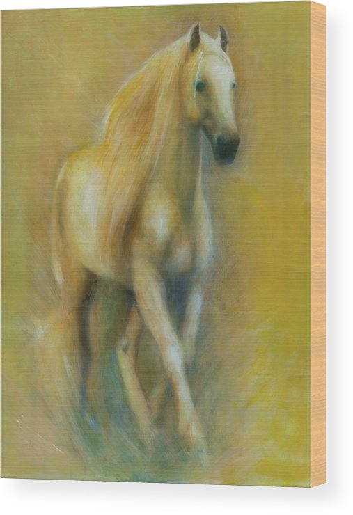 Horse Wood Print featuring the painting Spirit by Elizabeth Silk