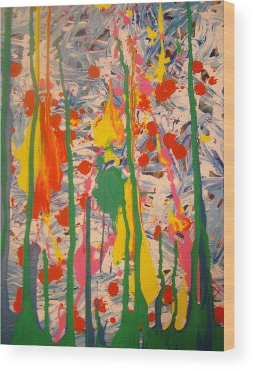 Splatter Wood Print featuring the painting Splatter 1 by Samantha Gilbert