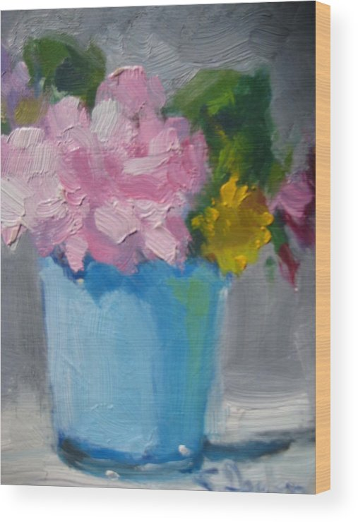 Floral Wood Print featuring the painting Spring Bouquet by Susan Jenkins