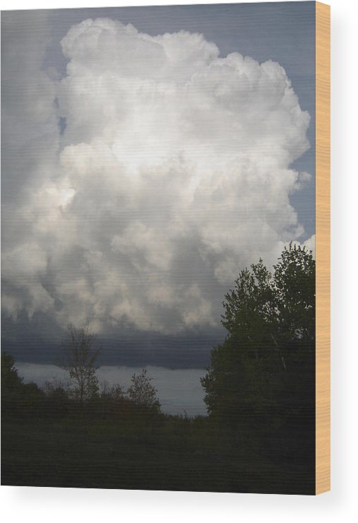 Nature Wood Print featuring the photograph Storm Cloud 2 by Dean Corbin