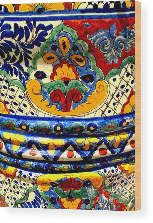 Darian Day Wood Print featuring the photograph Talavera By Darian Day by Mexicolors Art Photography
