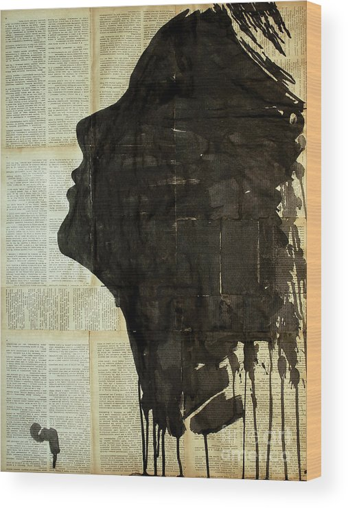 Woman Wood Print featuring the painting The Female Silhouette . by Marat Cherny