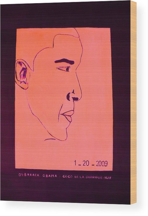 Hope Wood Print featuring the digital art The President Barack Obama. by Coco de la garrigue