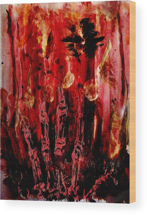 The Seven Deadly Sins Wood Print featuring the painting The Seven Deadly Sins - Wrath by Colleen Ranney