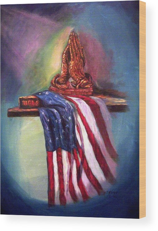 American Flag Wood Print featuring the painting The Way It Was by Tommy Winn