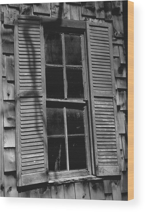 Fine Art Photograph Wood Print featuring the photograph The Window by Michael L Kimble