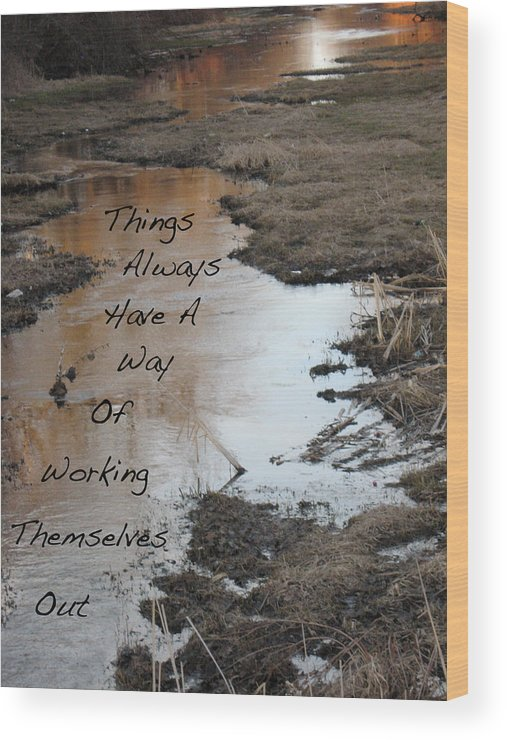 Landscape Wood Print featuring the photograph Things Have A Way by Shelia Howe