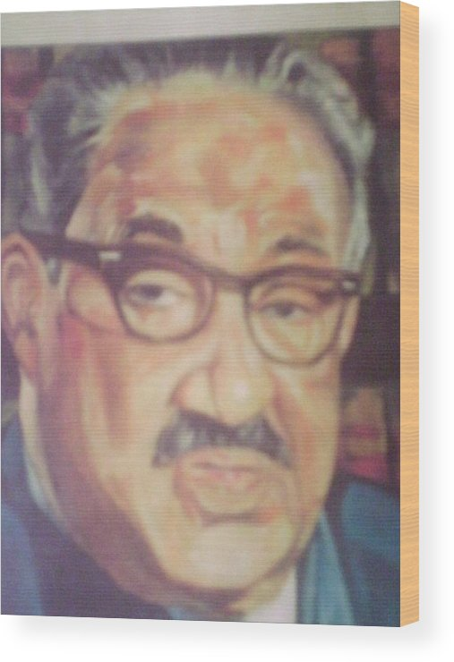 Portraits Wood Print featuring the painting Thurgood Marshall by Impressionist FineArtist Tucker Demps Collection