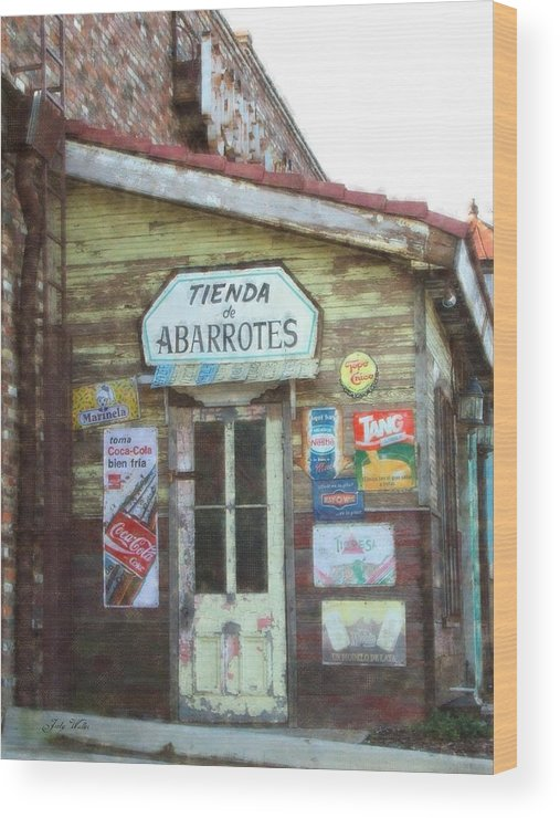 Mexico Wood Print featuring the photograph Tienda De Abarrotes by Judy Waller