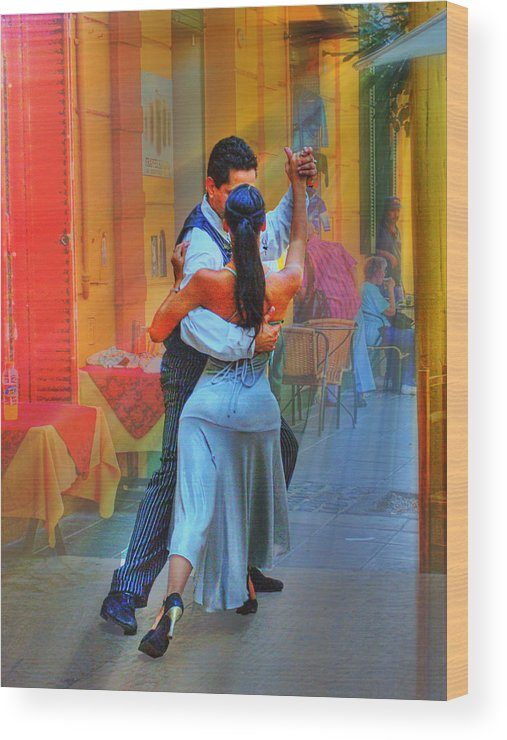 Dance Wood Print featuring the photograph Two Tango by Francisco Colon