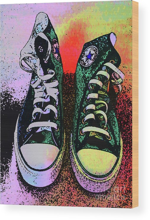 Converse Wood Print featuring the digital art Vamba 2017 01 by Don Pedro DE GRACIA