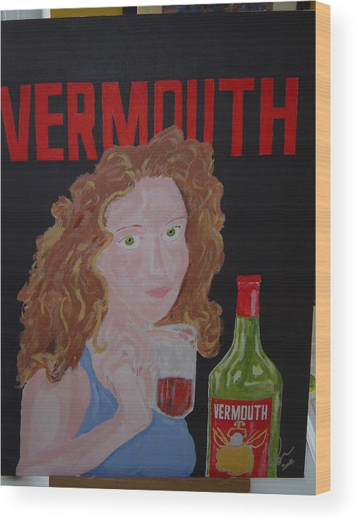 Acrylic Wood Print featuring the painting Vermouth by Raymond Nash