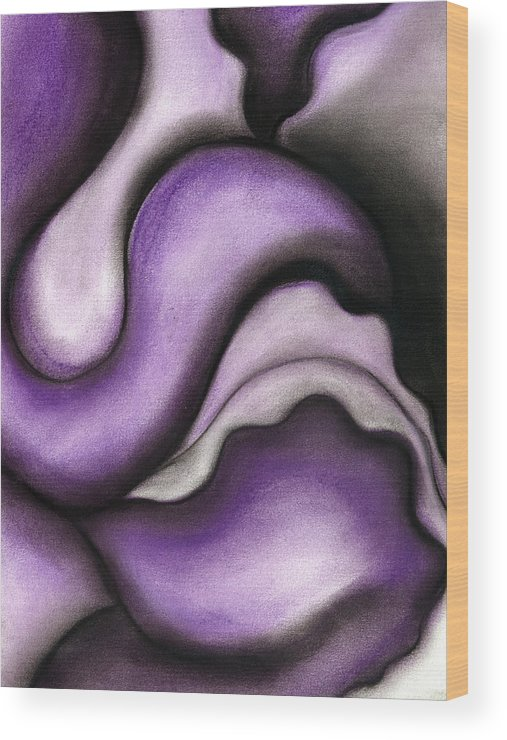 Bontanical Wood Print featuring the pastel Violet 1 by Bonnie Kelso