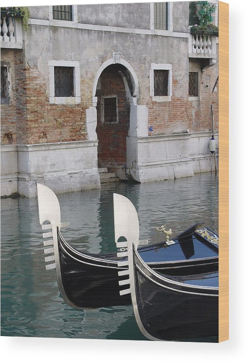 Italy Wood Print featuring the photograph Visions Of Venice 3. by Nancy Bradley