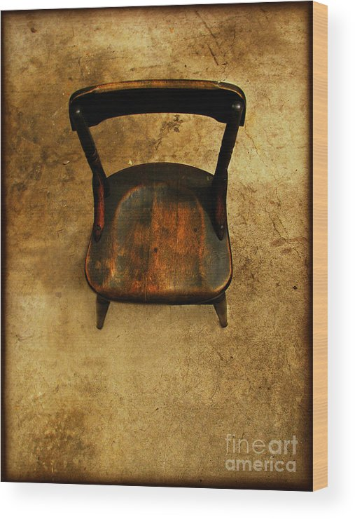 Alone Wood Print featuring the photograph Waiting To Say Goodbye by Dana DiPasquale