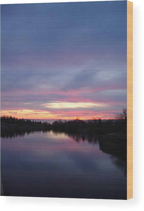 Landscape Wood Print featuring the photograph Water To Water by Chad Natti