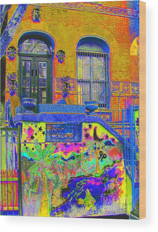 Harlem Wood Print featuring the photograph Wax Museum Harlem Ny by Steven Huszar