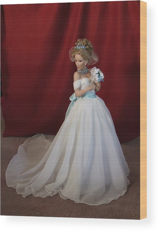 Fantasy Wood Print featuring the photograph Wedding Gown by Chuck Shafer