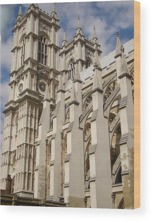 Westminster Abbey Wood Print featuring the photograph Westminster by Kimberly Hill