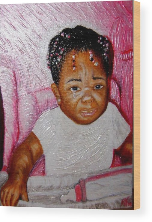 Acrylic Wood Print featuring the painting What A Blessing by Keenya Woods