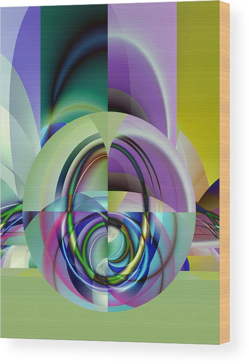 Abstract Wood Print featuring the digital art Wide Eye by Frederic Durville
