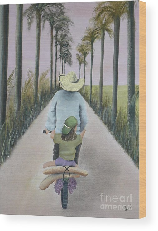 Tropical Wood Print featuring the painting You're The Best by Kris Crollard
