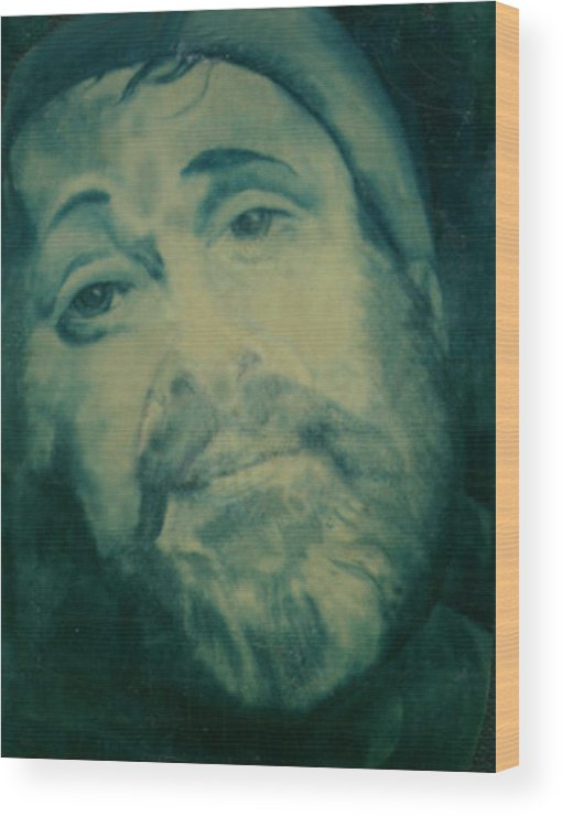 Pastels Wood Print featuring the painting Zero Mostel by Winifred Ann Weishampel