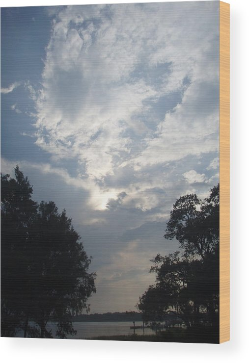 Sky Wood Print featuring the photograph Zooey's Sky by Jessica Breen