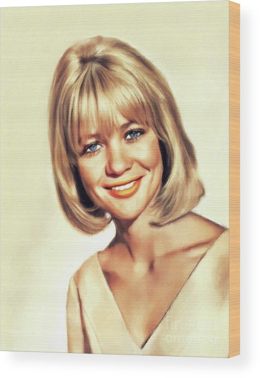 Judy Wood Print featuring the painting Judy Geeson, Vintage Actress 2 by John Springfield