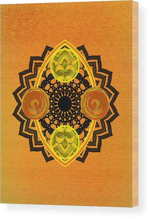 Sacred Geometry Wood Print featuring the digital art Untitled by Giuseppe Barilla