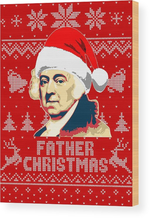 Santa Wood Print featuring the digital art John Adams Father Christmas by Filip Hellman