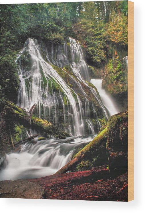 Waterfall Wood Print featuring the photograph Panther Creek by Gene Graff