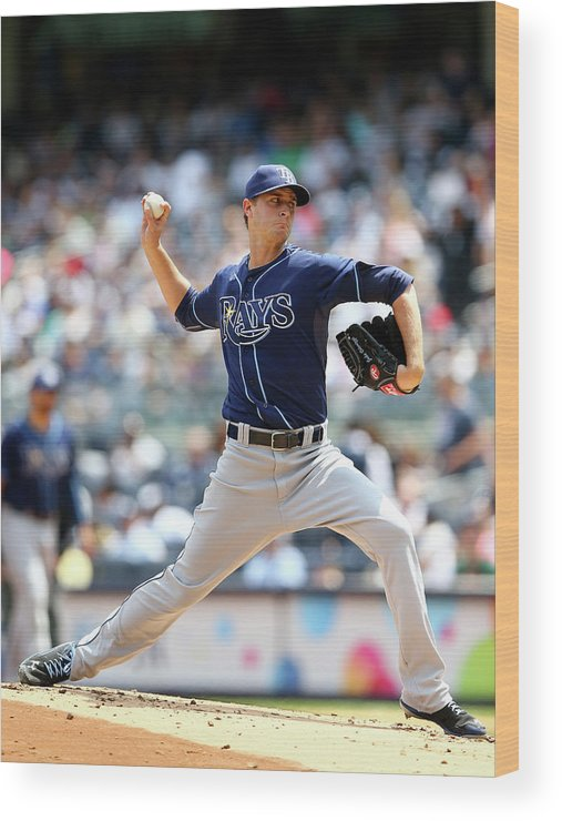 American League Baseball Wood Print featuring the photograph Jake Odorizzi by Elsa